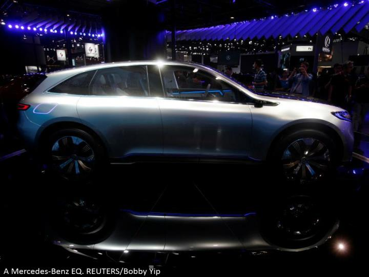 A Mercedes-Benz EQ. REUTERS/Bobby Yip
