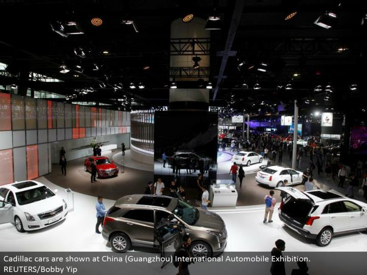 Cadillac autos are appeared at China (Guangzhou) International Automobile Exhibition. REUTERS/Bobby Yip