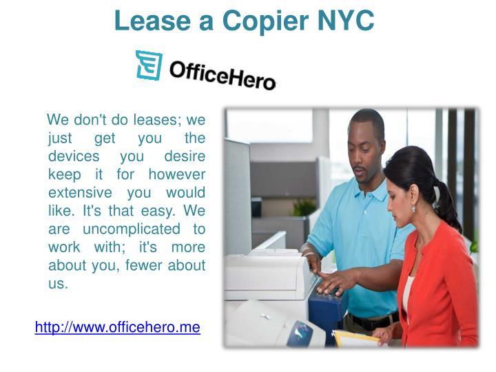 Lease a Copier NYC