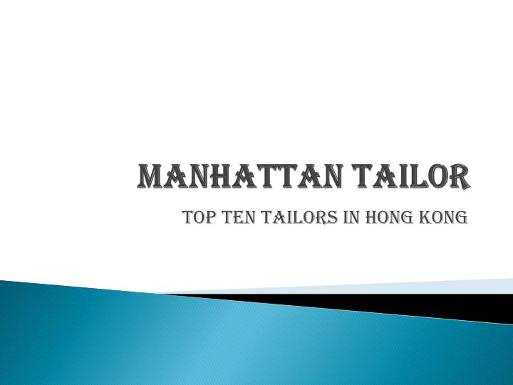 Manhattan tailor