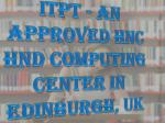 itpt an approved hnc hnd computing center in edinburgh uk