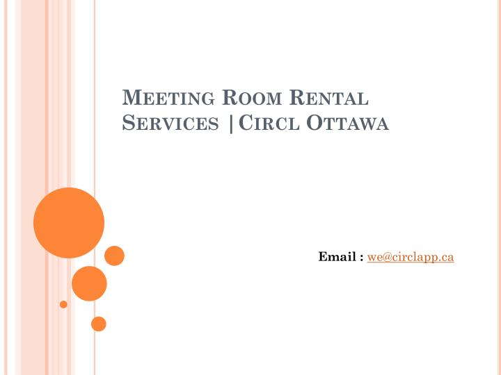 Meeting room rental services circl ottawa