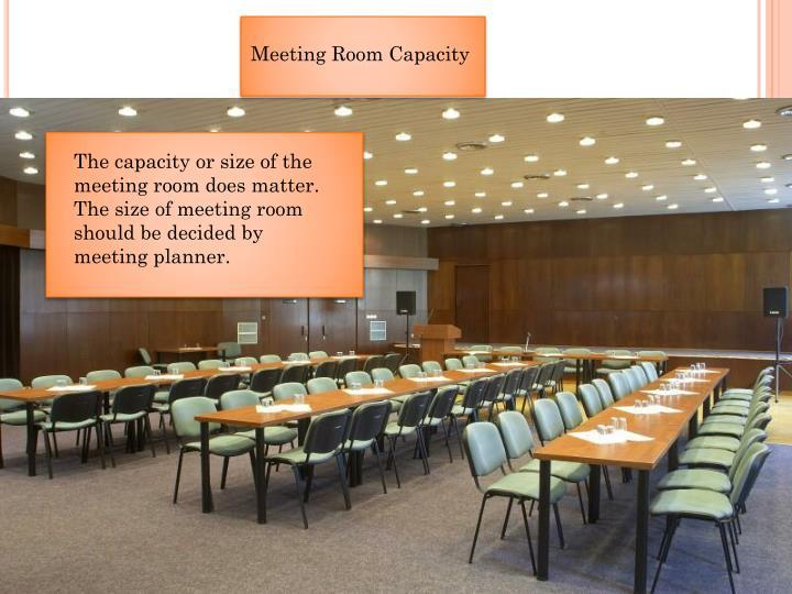 MeetingRoom Capacity