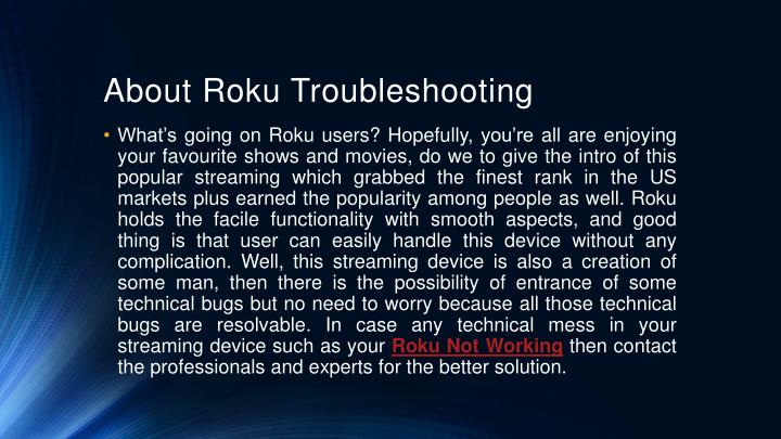 About Roku Troubleshooting