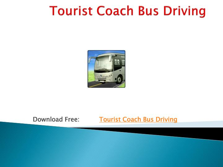 Tourist coach bus driving