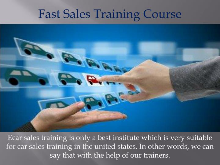 Fast Sales Training Course