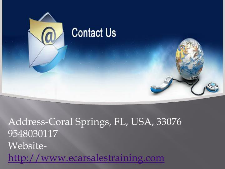 Address-Coral Springs, FL, USA, 33076