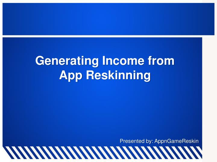 Generating Income from