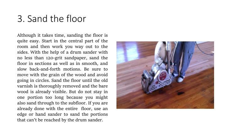 3. Sand the floor