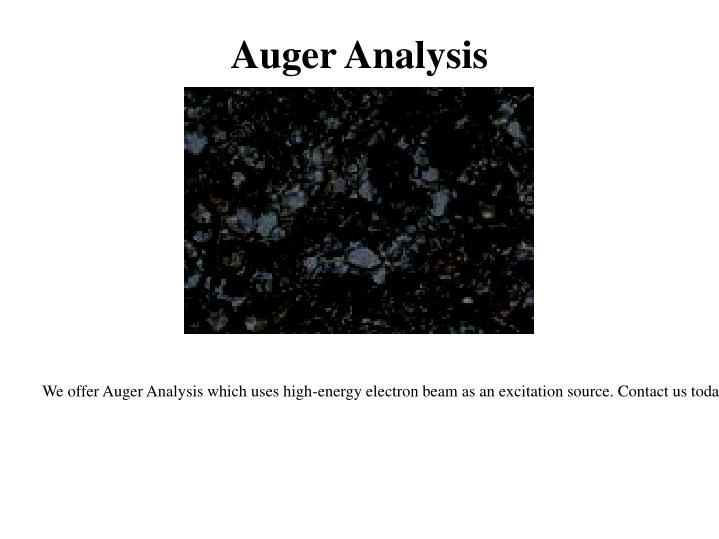 Auger Analysis