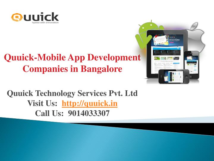 Quuick-Mobile App Development Companies in Bangalore