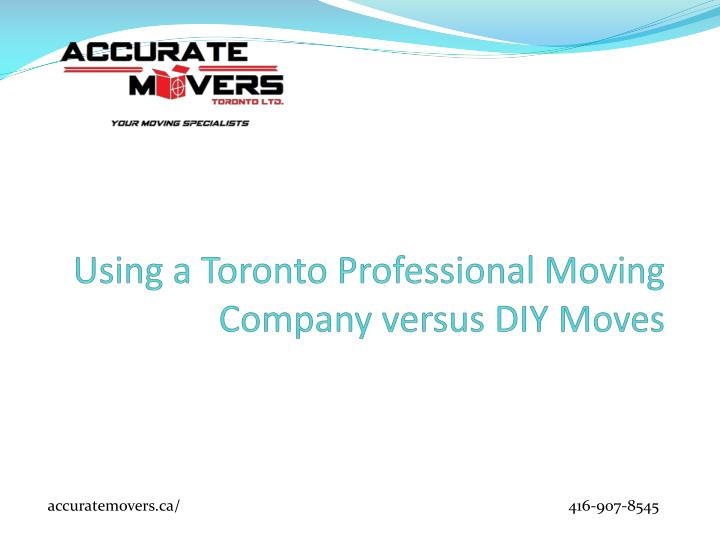 Using a toronto professional moving company versus diy moves