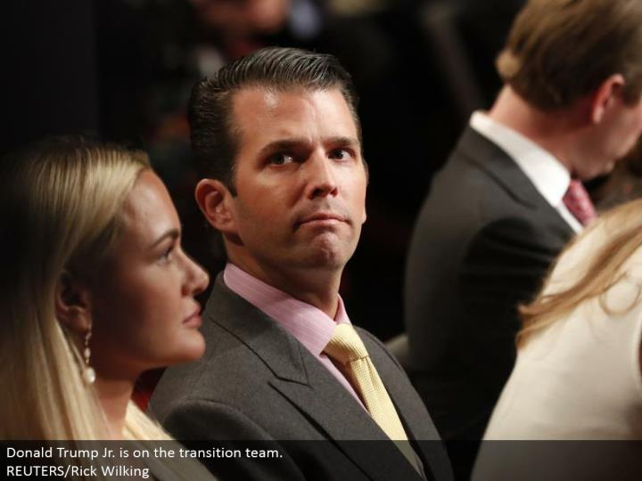 Donald Trump Jr. is on the move group. REUTERS/Rick Wilking