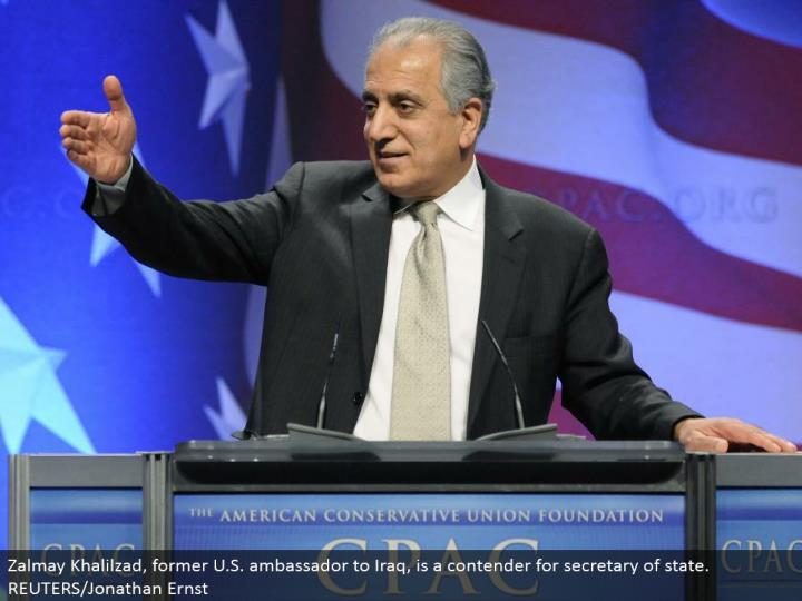 Zalmay Khalilzad, previous U.S. minister to Iraq, is a contender for secretary of state. REUTERS/Jonathan Ernst