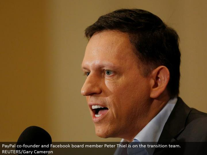 PayPal prime supporter and Facebook board part Peter Thiel is on the move group. REUTERS/Gary Cameron