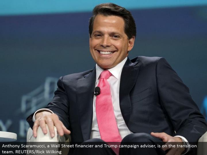 Anthony Scaramucci, a Wall Street agent and Trump crusade counselor, is on the move group. REUTERS/Rick Wilking