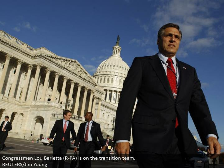 Congressmen Lou Barletta (R-PA) is on the move group. REUTERS/Jim Young