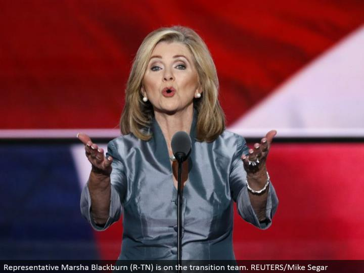 Representative Marsha Blackburn (R-TN) is on the move group. REUTERS/Mike Segar