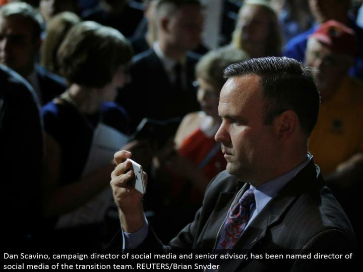 Dan Scavino, battle chief of online networking and senior consultant, has been named executive of web-based social networking of the move group. REUTERS/Brian Snyder