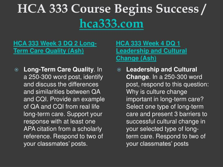 HCA 250 Course Tutorial / Indigohelp