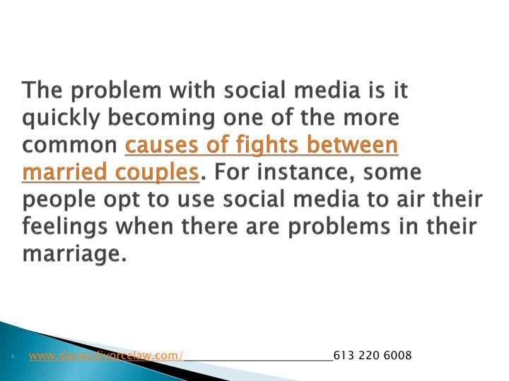 The problem with social media is it quickly becoming one of the more common