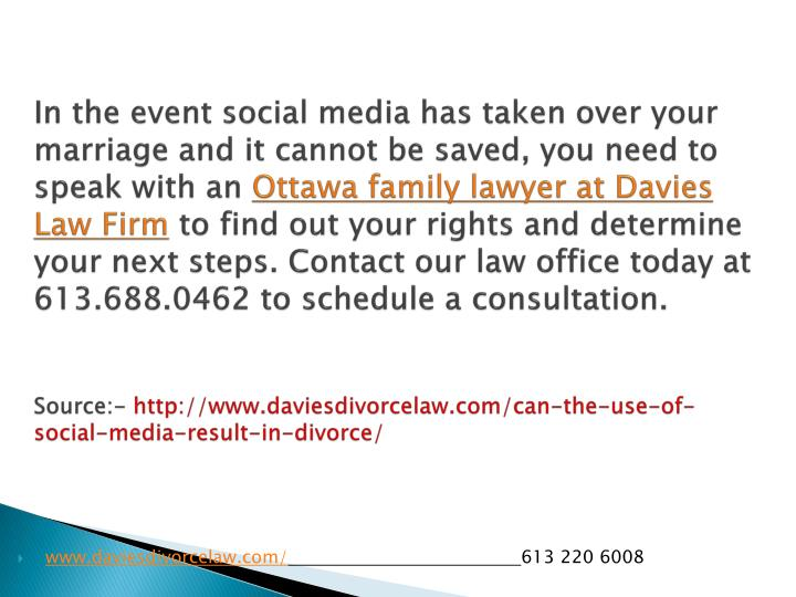 In the event social media has taken over your marriage and it cannot be saved, you need to speak with an