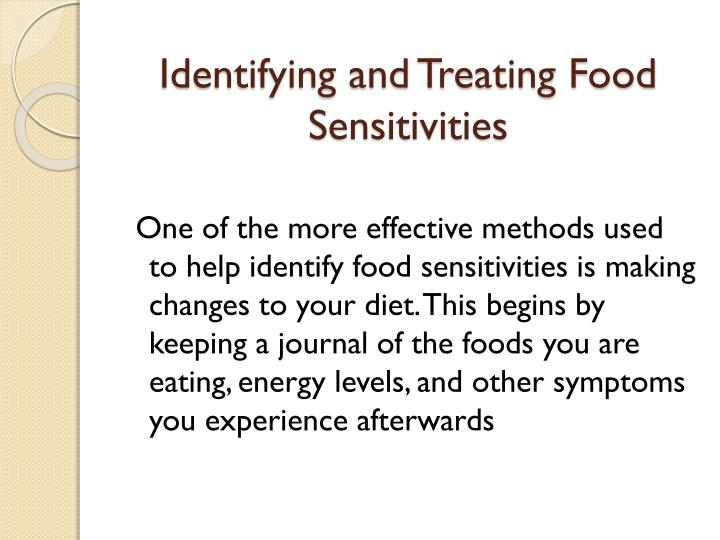Identifying and Treating Food Sensitivities