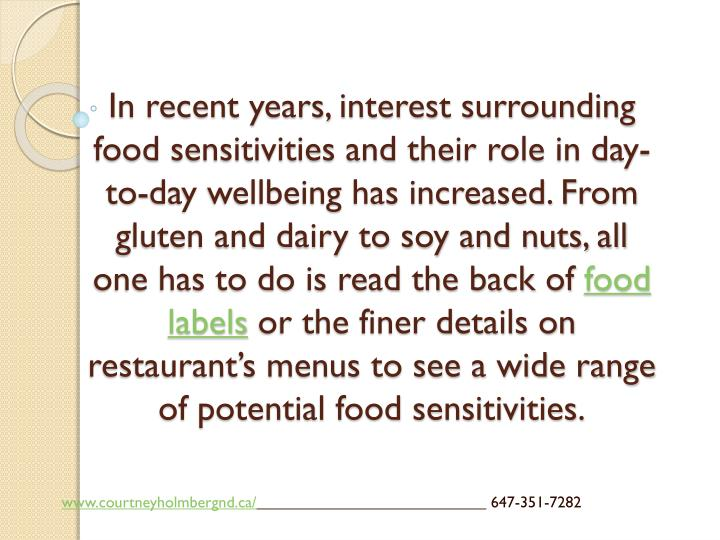 In recent years, interest surrounding food sensitivities and their role in day-to-day wellbeing has increased. From gluten and dairy to soy and nuts, all one has to do is read the back of