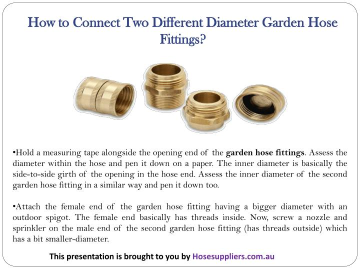 How to Connect Two Different Diameter Garden Hose Fittings?