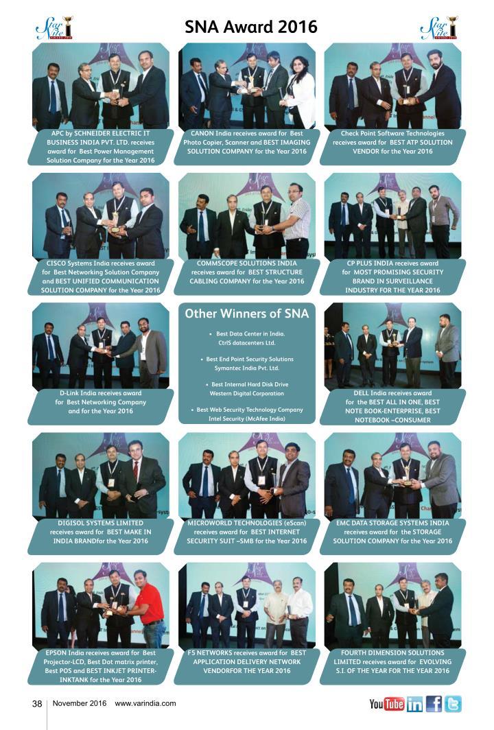 SNA Award 2016