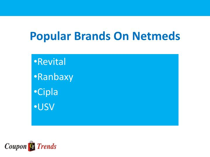 Popular brands on netmeds