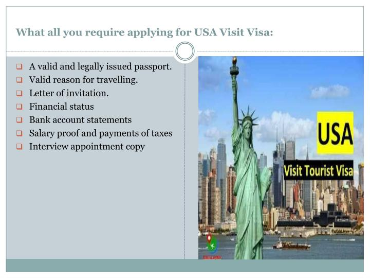 What all you require applying for USA Visit Visa