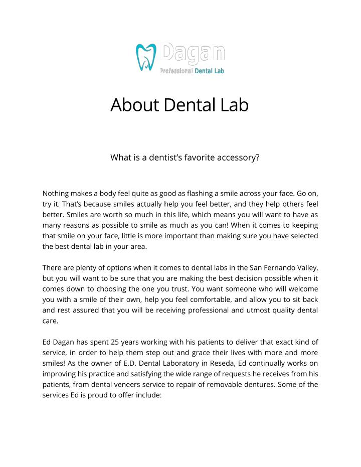 About Dental Lab