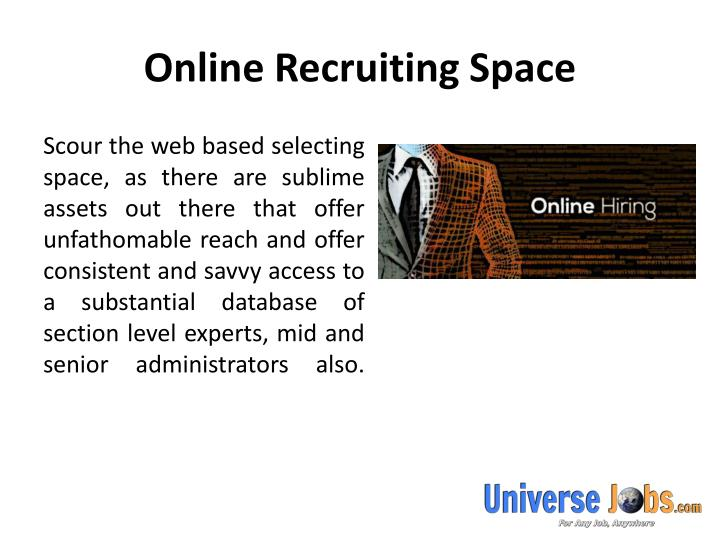 Online recruiting space