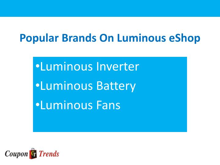 Popular brands on luminous eshop
