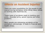effects on accident injuries