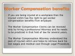 worker compensation benefits