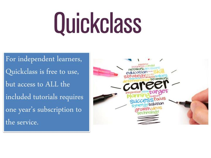 For independent learners,