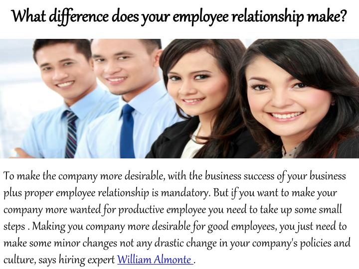 What difference does your employee relationship make?