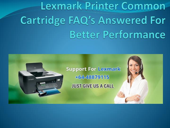 Lexmark printer common cartridge faq s answered for better performance