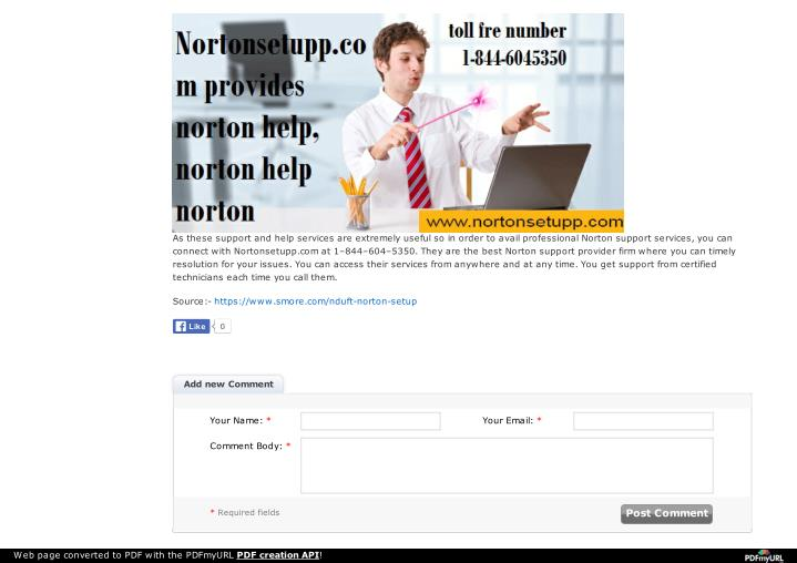 As these support and help services are extremely useful so in order to avail professional Norton sup...