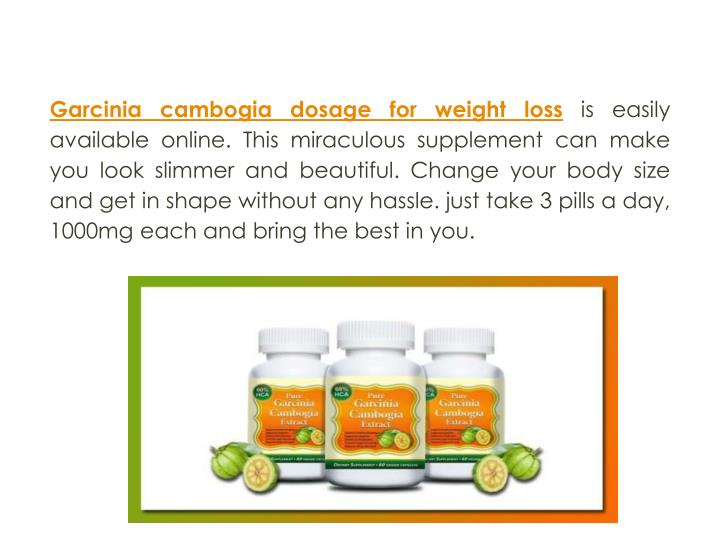 Garcinia cambogia dosage for weight loss