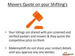 movers quote on your shifting s