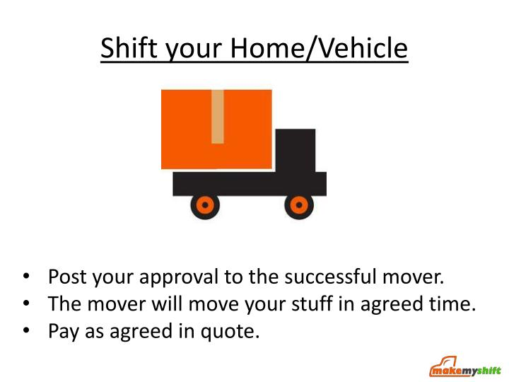 Shift your Home/Vehicle