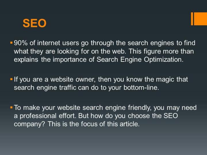 How to find the right seo company