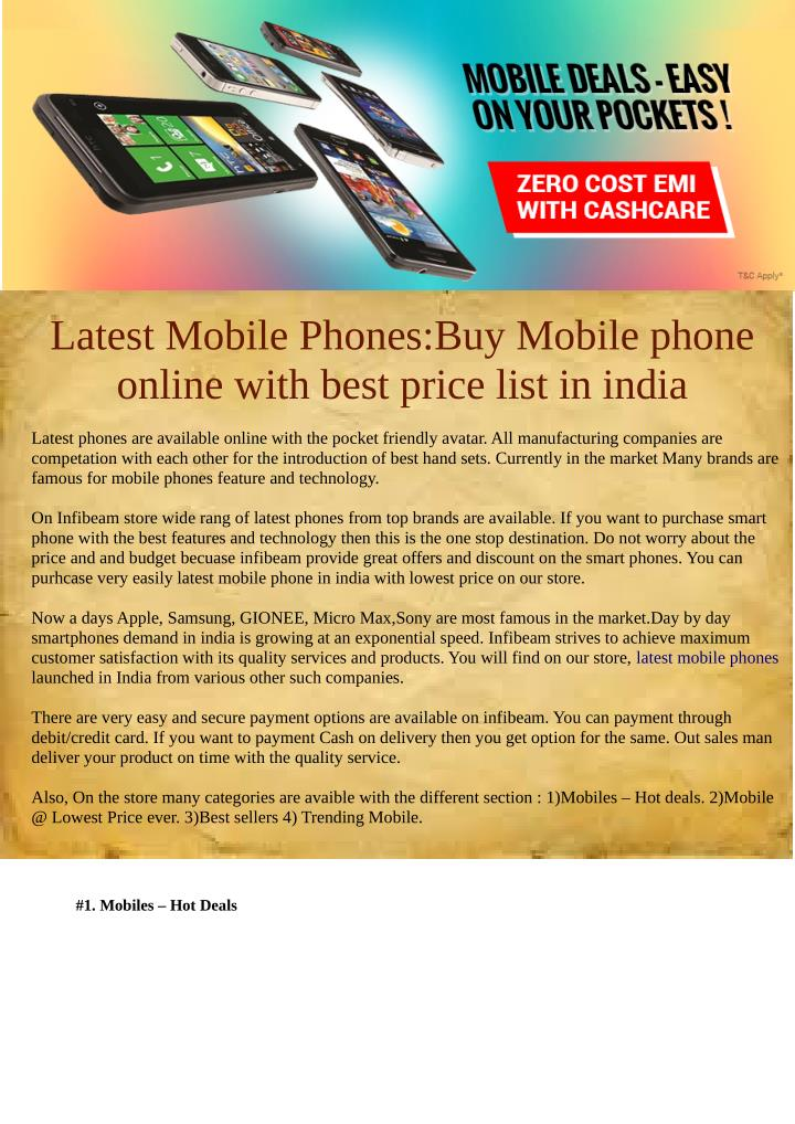 Latest Mobile Phones:Buy Mobile phone
