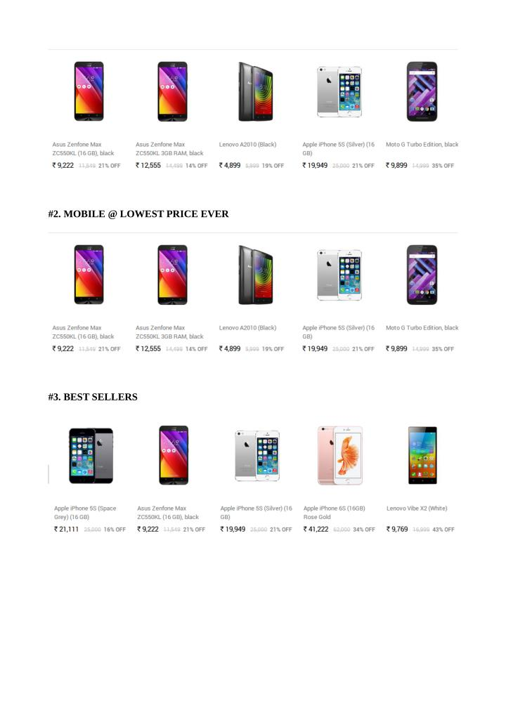 #2. MOBILE @ LOWEST PRICE EVER