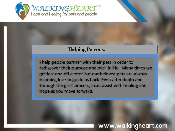 Helping Persons: