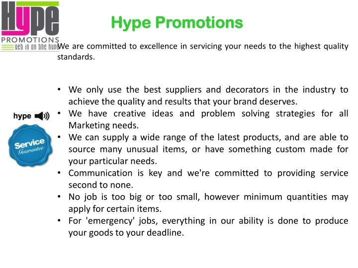 Hype promotions1