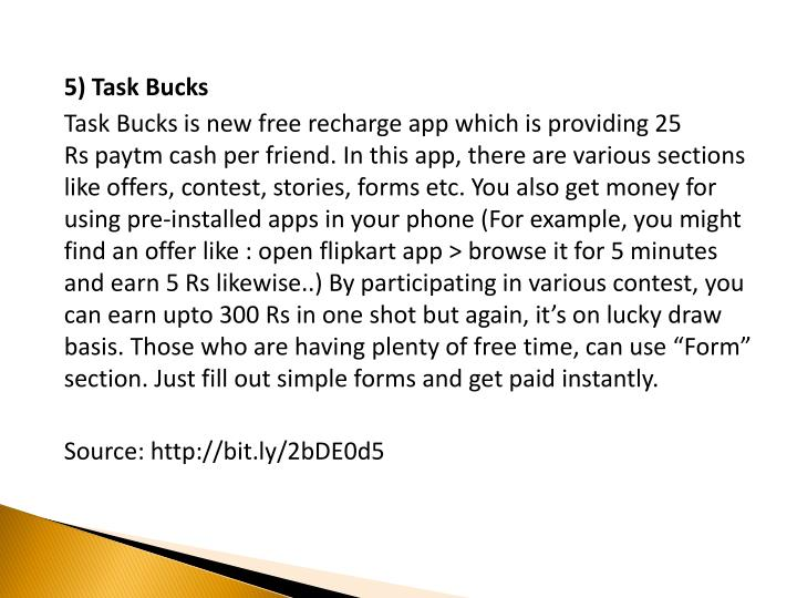 5) Task Bucks